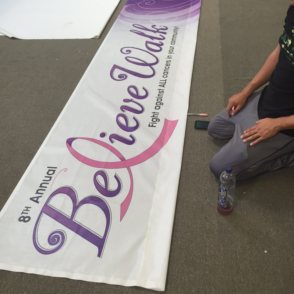 Redlands believe walk street banner 2015