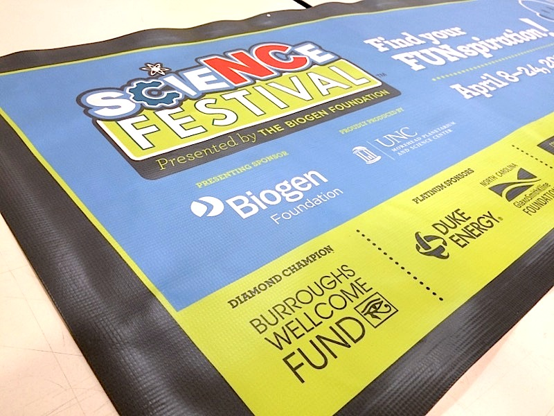 nc science festival event banners