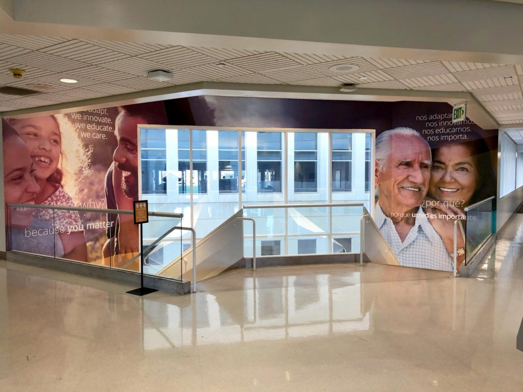 Riverside University Health System Foundation wall wraps